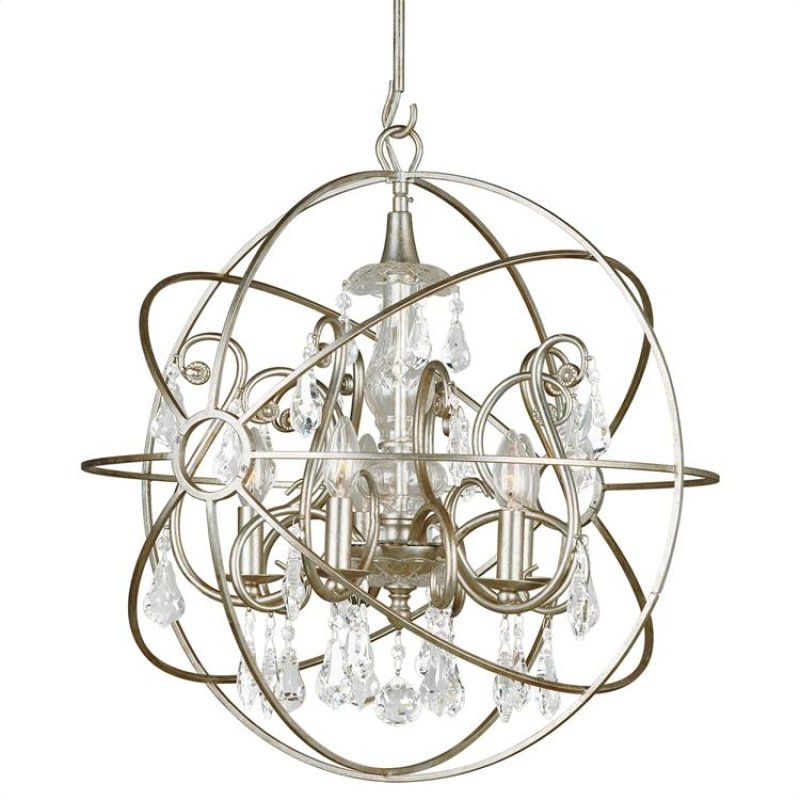 9026osclmwp in by crystorama in brick nj solaris 5 light crystal solaris 5 light crystal silver sphere chandelier hidden aloadofball Images