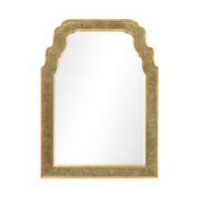 William & Mary Style glomise Framed & Gilded Mirror