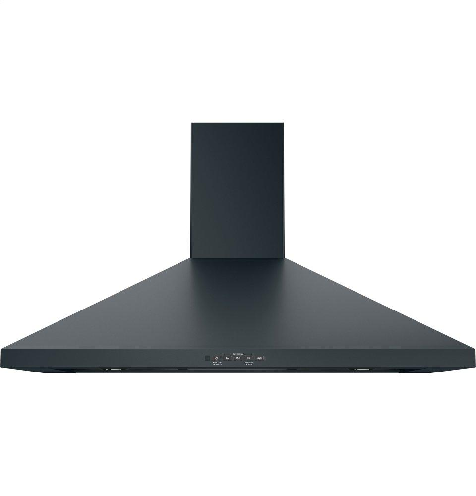 "GE(R) 36"" Wall-Mount Pyramid Chimney Hood