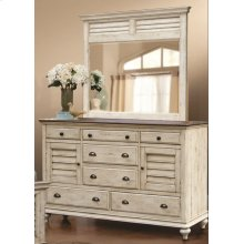 CF-2300 Bedroom  Dresser with Shutter Mirror
