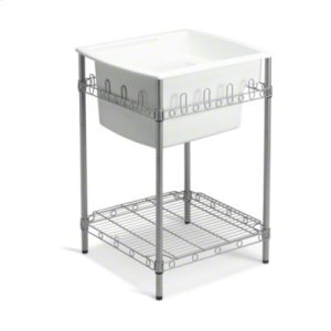"""Latitude® Utility Sink with Stand, 25"""" x 22"""" x 36"""" (Basin Depth is 12"""") - White Product Image"""