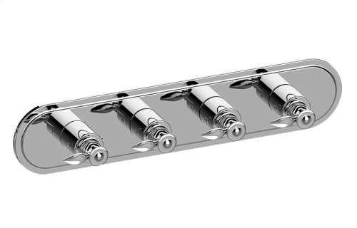 Topaz M-Series Valve Horizontal Trim with Four Handles