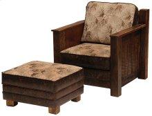 Upholstered Ottoman Barnwood, Standard Leather