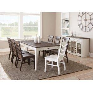 Steve Silver Co.Cayla Dark Oak & White 5-pc Dining Set -  *shown as 9-pc set