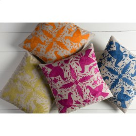 """Otomi LD-020 22"""" x 22"""" Pillow Shell with Polyester Insert"""