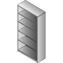 Lodi 5-shelf Bookcase, 30wx12dx65h