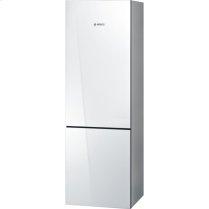 "24"" Glass Door Counter-Depth Bottom Freezer B10CB80NVW 800 Series - White Glass"