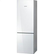 """24"""" Glass Door Counter-Depth Bottom Freezer B10CB80NVW 800 Series - White Glass (Scratch & Dent)"""