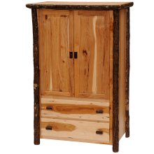 Two Drawer Wardrobe - Natural Hickory - Premium