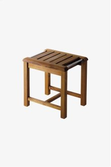 "Teak Wood Stool 17"" x 14"" x 17 1/4"" STYLE: TEST01"