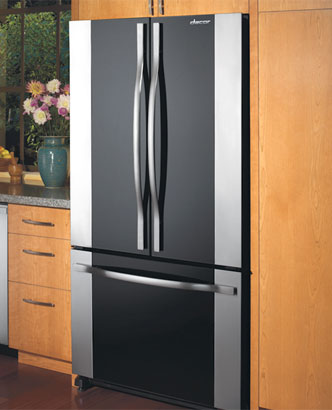Hidden · Additional Renaissance 36  French Door Freestanding Cabinet-Depth Bottom Freezer Refrigerator in Black & PF36BNDFBKAFM36VSP in Black Glass by Dacor in Pleasant Hill CA ...