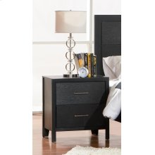 Grove Black Two-drawer Nightstand