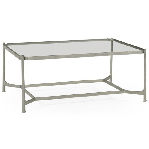 Silver Rectangular Coffee Table