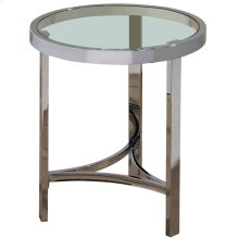 Strata Accent Table in Chrome