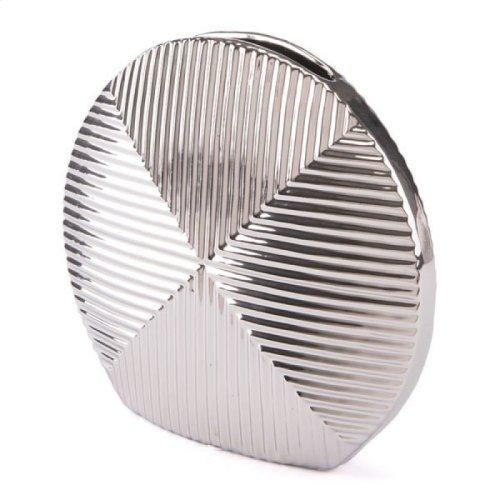 Round Vase Sm Silver