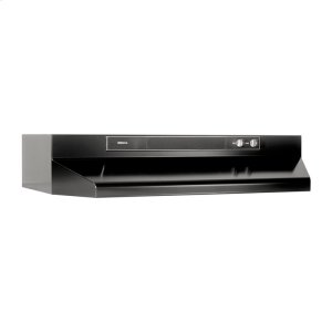 "Broan24"" 220 Cfm Black Under-Cabinet Range Hood"