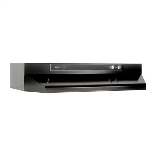 "24"" 220 CFM Black Under-Cabinet Range Hood"