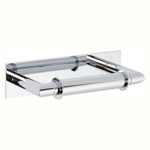 Polished Chrome Double Post Toilet Tissue Holder