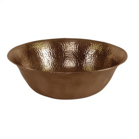 Above Counter Basin - Hammered Antique Copper