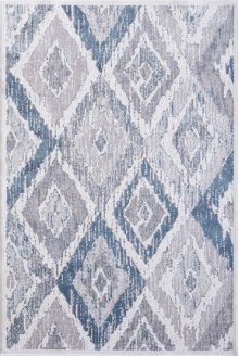 Mosaic Cream/grey/blue 1669 Rug