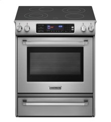 30-Inch 4-Element Electric Slide-In Range, Pro Line® Series - Stainless Steel