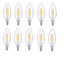 LED E12 CANDELABRA, BLUNT TIP, 5000K, 300, CRI80, ES, UL, 6W, 40W EQUIVALENT, 15000HRS, LM480, DIMMABLE, 2 YEARS WARRANTY, INPUT VOLTAGE 120V