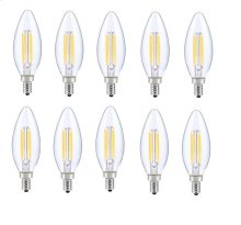 LED E12 CANDELABRA, BLUNT TIP, 5000K, 300, CRI80, ES, UL, 6W, 40W EQUIVALENT, 15000HRS, LM480, DIMMABLE, 2 YEARS WARRANTY, INPUT VOLTAGE 120V