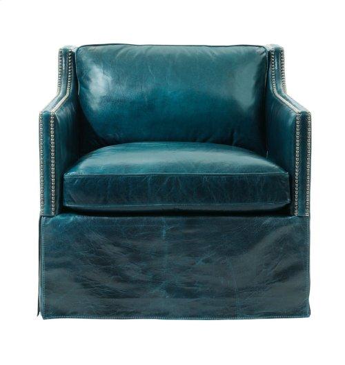 Delano Swivel Chair in #44 Antique Nickel