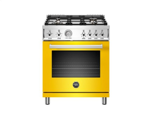 30 inch 4-Burner, Gas Oven Yellow