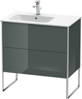 Vanity Unit Floorstanding, Dolomiti Grey High Gloss Lacquer