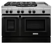 48'' 6-Burner with Griddle, Dual Fuel Freestanding Range, Commercial-Style - Imperial Black Product Image