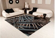 Contour Con14 Black Rectangle Rug 5' X 7'6''