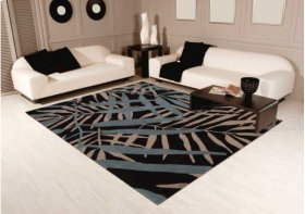 Contour Con14 Black Rectangle Rug 3'6'' X 5'6''