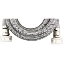 Braided Stainless Steel Washing Machine Hose (5ft)