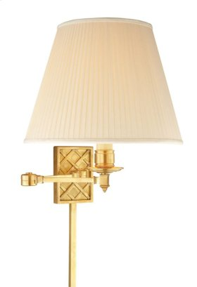 Visual Comfort AH2012NB-S Alexa Hampton Gene 20 inch 100 watt Natural Brass Swing-Arm Wall Light