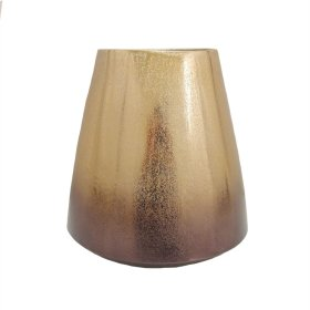 "Gold Ombre Metal Vase 10"""