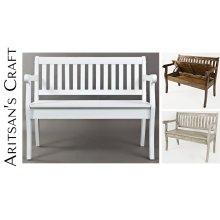 Artisan's Craft Storage Bench - Washed Grey