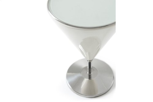 carnelian' Mixology (stainless Steel, Small) Accent Table, carnelian' Lacquer