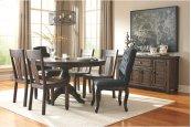 Trudell - Dark Brown 8 Piece Dining Room Set