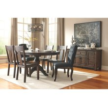 Trudell - Dark Brown 8 Piece Dining Room Set