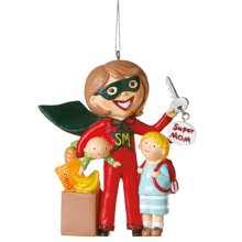 """Super Mom"" Ornament."