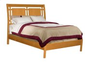 Alder Shaker Modern Sleigh Bed Queen Size Product Image