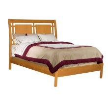 Queen Solid Alder Shaker Modern Sleigh Bed