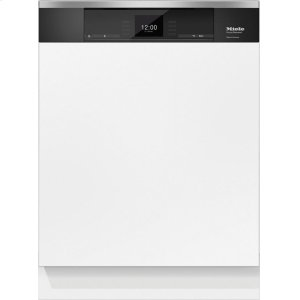 MieleG 6935 SCi AM Integrated, full-size dishwasher with visible control panel, 3D+ cutlery tray and custom panel ready