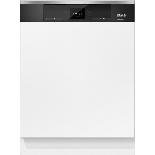 G 6935 SCi AM Integrated, full-size dishwasher with visible control panel, 3D+ cutlery tray and custom panel ready