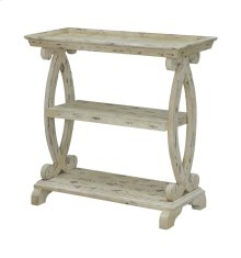 Newport Distressed White Shaped Console Table