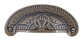 D Etched Cup Pull 3 1/4 Inch (c-c) - Burnished Bronze
