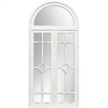 White Farmhouse Arch Mirror  54in X 25in X 2in  Framed Wall Mirror