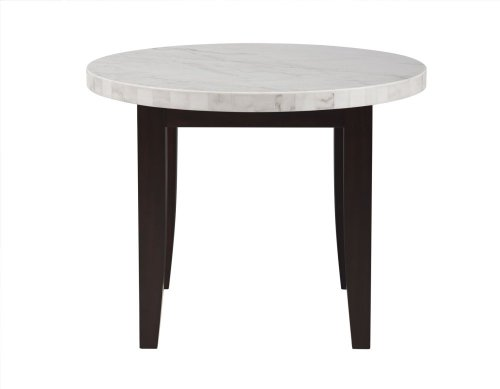"Francis Round White Marble Top 40''x40""x 55MM"