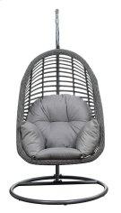 Emerald Home San Marino Hanging Basket Chair-w/cushion Spuncrylic Sketch Grey Ou1060-2-09-23-k Product Image